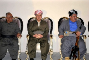 The President of Iraqi Kurdistan Massoud Barzani visits Kirkuk