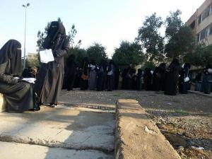 Mosul University under Islamic State control; all women must wears full Islamic scarf